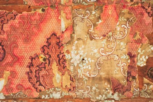 19th Century「Close-up of Old Peeling Wallpaper」:スマホ壁紙(8)