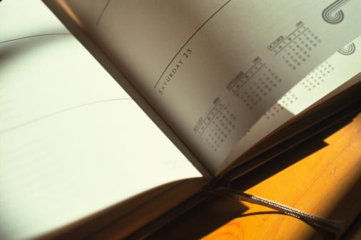 カレンダー「Close-up of diary」:スマホ壁紙(17)