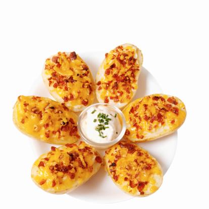 Sour Cream「Close-up of potato skins and sour cream dip」:スマホ壁紙(19)