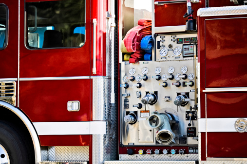 Engine Control Unit「Close-up of Fire Engine」:スマホ壁紙(9)