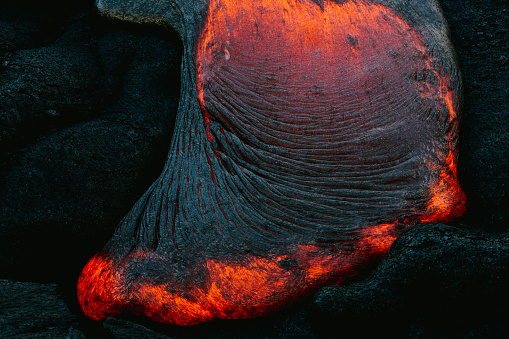 Active Volcano「Close-up of Lava Flow on a mountain, Hawaii, America, USA」:スマホ壁紙(18)