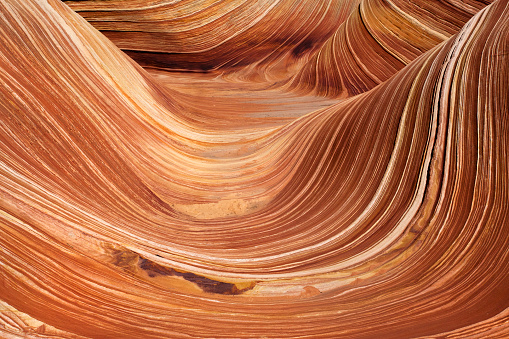 地質学「Close-up of wave rock formation, Arizona, America, USA」:スマホ壁紙(1)