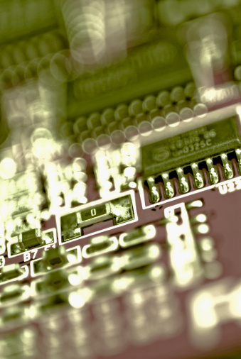 Mother Board「Close-up of a circuit board」:スマホ壁紙(3)