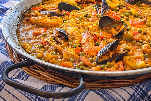 Paella「Close-up of seafood paella」:スマホ壁紙(5)