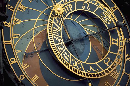 1990-1999「Closeup of Prague Astronomical Clock」:スマホ壁紙(19)