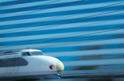 Passenger「Close-up of blurred passenger train」:スマホ壁紙(8)