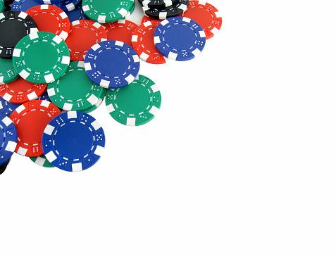 Corner「Blue red and green poker chips」:スマホ壁紙(9)