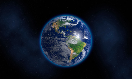 Planet Earth「Glowing Earth floating in space」:スマホ壁紙(6)