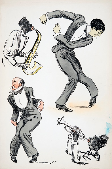 楽器「Two Men In Suits Dancing While Two Musicians Play The Saxophone And Trumpet」:写真・画像(17)[壁紙.com]