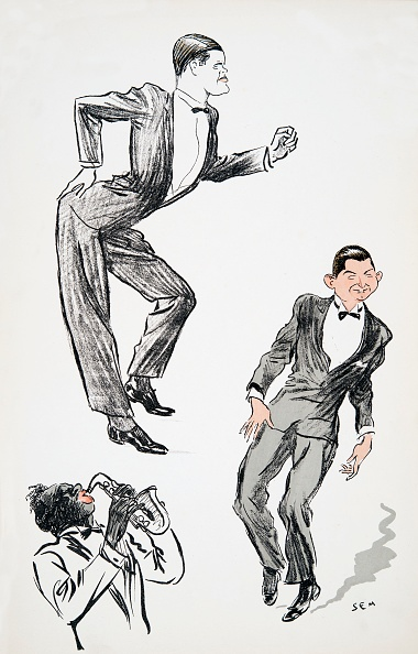 楽器「Two Men In Black Tie Dance To A Musician On The Saxophone」:写真・画像(9)[壁紙.com]