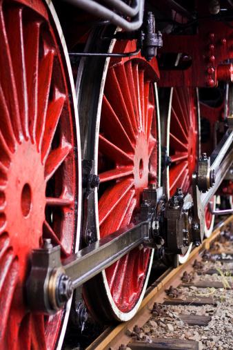 SL「レッドの「ウィールズ」、昔ながらの蒸気機関車」:スマホ壁紙(5)