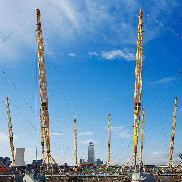 Support「Positioning of roof supports during construction of Millennium Dome, Greenwich, London, UK」:写真・画像(10)[壁紙.com]