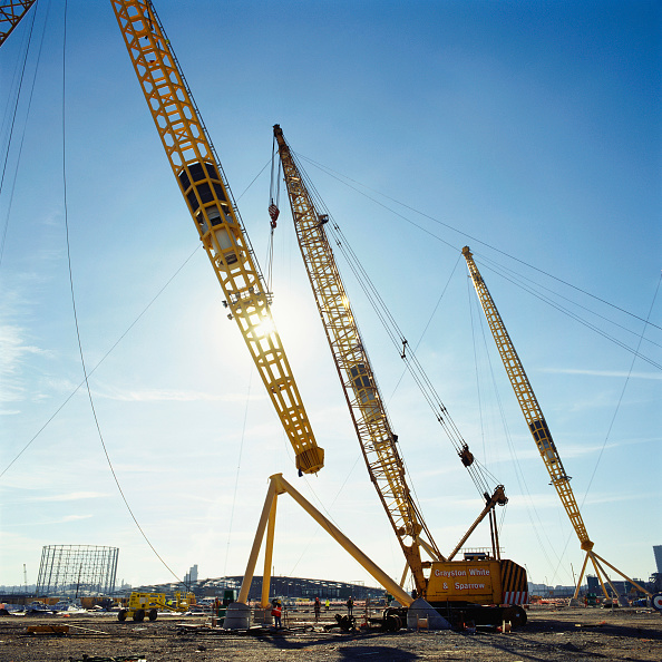 Support「Positioning of roof supports during construction of Millennium Dome, Greenwich, London, UK」:写真・画像(6)[壁紙.com]