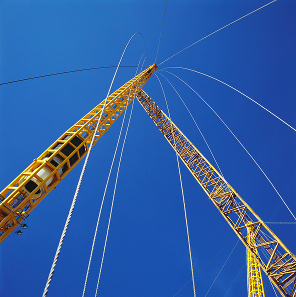Copy Space「Positioning of roof supports during construction of Millennium Dome, Greenwich, London, UK」:写真・画像(4)[壁紙.com]