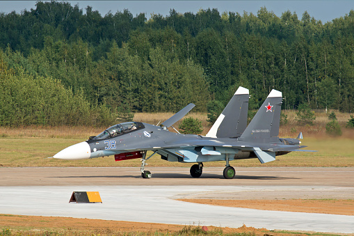 Russian Military「A Russian Navy Su-30SM aircraft.」:スマホ壁紙(17)
