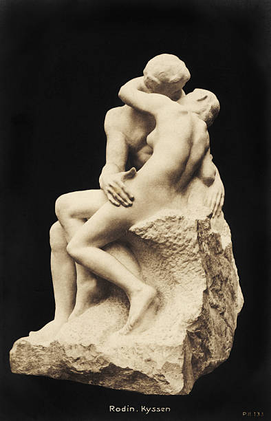 Auguste Rodin - The Kiss, 1886. Marble sculpture.Musee Rodin, Paris. French sculptor,:ニュース(壁紙.com)
