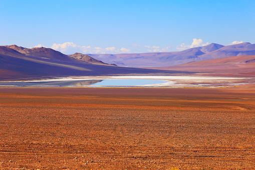 Bolivian Andes「Dramatic Salar de Tara lagoon, lake reflection, and rock formations - Idyllic Atacama Desert, Volcanic landscape panorama – San Pedro de Atacama, Chile, Bolívia and Argentina border」:スマホ壁紙(2)