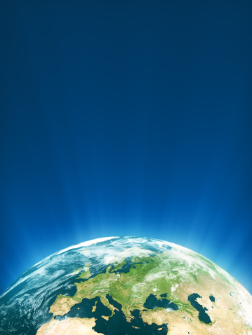 Planet Earth「Glowing Globe Series - Europe」:スマホ壁紙(8)