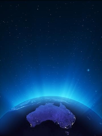 Sphere「Glowing Globe at Night Series - Oceania」:スマホ壁紙(18)