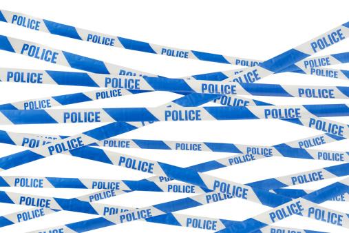 Digital Composite「Police barrier tape」:スマホ壁紙(6)
