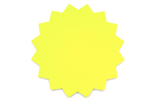 Adhesive Note「Yellow star Post-it Note on white」:スマホ壁紙(1)