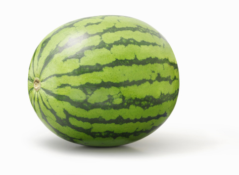 スイカ「Watermelon on white background」:スマホ壁紙(1)