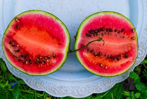 スイカ「Watermelon slices on plate」:スマホ壁紙(9)