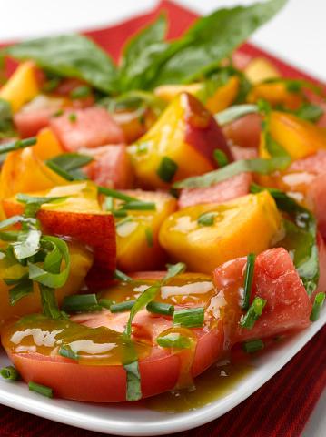 Peach「Watermelon Peach & Tomato Salad」:スマホ壁紙(14)