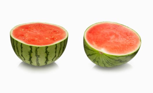 スイカ「Watermelon on white」:スマホ壁紙(6)