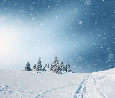 雪が降る「ユキコの風景」:スマホ壁紙(15)