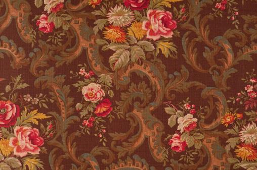 Floral Pattern「King's Muir Brown Medium Antique Floral Fabric」:スマホ壁紙(12)