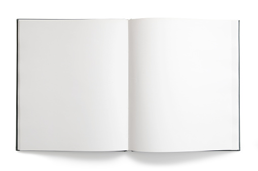 Sketch「Open book with blank, empty pages on white background」:スマホ壁紙(15)