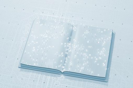 Slovenia「Open book with binary code」:スマホ壁紙(11)