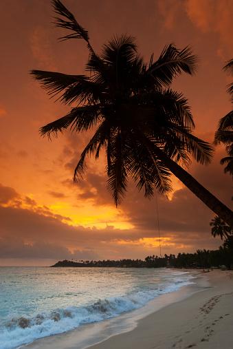 Sri Lanka「Unawatuna Beach at sunset」:スマホ壁紙(3)