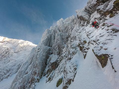Caucasian Ethnicity「Majestic sharp peak. Snowy mountain landscape」:スマホ壁紙(5)