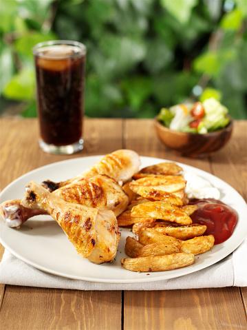 Chicken Wing「chicken fast food plate with soda」:スマホ壁紙(16)