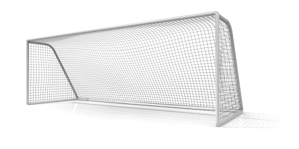 Net - Sports Equipment「A soccer net on a white background」:スマホ壁紙(2)