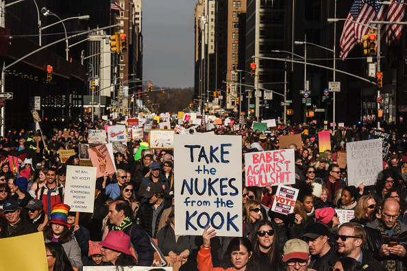 Women's Issues「Huge Crowds Rally At Women's Marches Across The U.S.」:写真・画像(19)[壁紙.com]