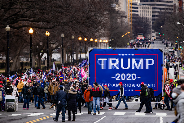 """The Mall - Washington DC「Trump Supporters Hold """"Stop The Steal"""" Rally In DC Amid Ratification Of Presidential Election」:写真・画像(19)[壁紙.com]"""