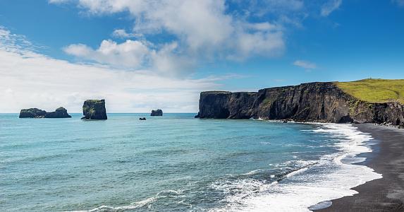 Basalt「Vik i Myrdal Black Beach Iceland」:スマホ壁紙(18)