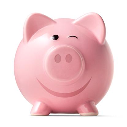 笑顔「ウィンク piggybank に白背景」:スマホ壁紙(4)