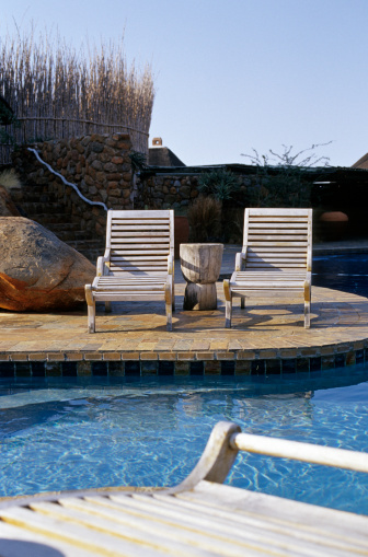 Deck Chair「Deck chairs by poolside, South Africa」:スマホ壁紙(3)