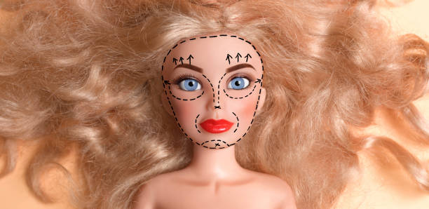 Doll with face marked up for plastic surgery:スマホ壁紙(壁紙.com)