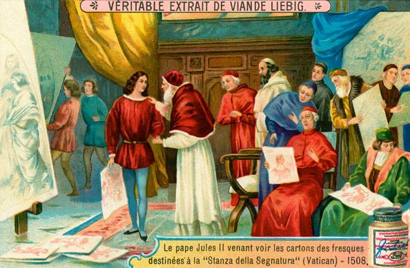Chromolithograph「Pope Julius II examining paintings」:写真・画像(1)[壁紙.com]