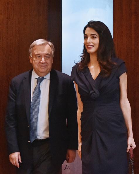 Secretary-General「Amal Clooney Visits The Secretary-General Of The United Nations Antonio Guterres」:写真・画像(15)[壁紙.com]