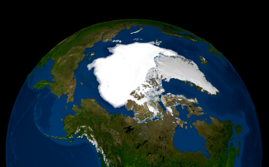 Solar System「This image shows the minimum sea ice on September 21, 2005.」:スマホ壁紙(12)