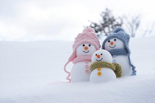 雪だるま「Family of snowmen」:スマホ壁紙(11)