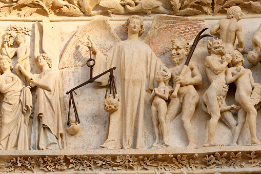Hell「The damned are hurled to Hell. The last judgment. Western portal. Bourges cathedral.」:スマホ壁紙(3)