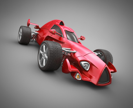 Hot Rod Car「red race car」:スマホ壁紙(3)