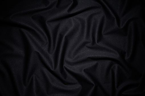Black Color「Dark fabric texture background with wave pattern」:スマホ壁紙(3)